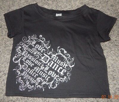 Youth One Size Fits Most--Heart & Soul Brand Black/silver Dance Top
