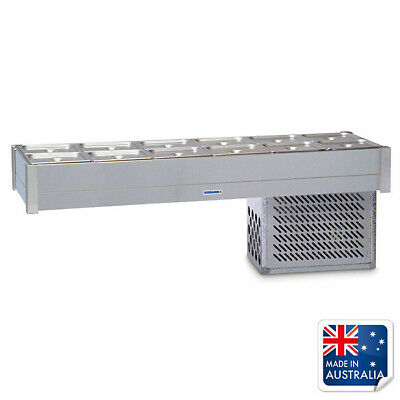 Bain Marie / Cold Food Bar Empty No Pans Fits 12x 1/2 Pans Roband Chilled Bar