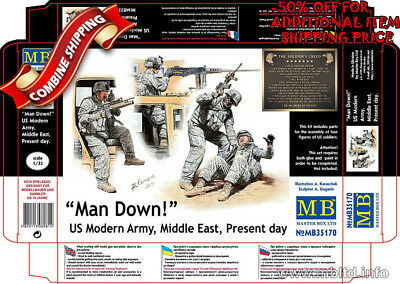 """Master Box 35170 """"Man Down!"""" US Modern Army, Middle East, Present day kit 1/35"""