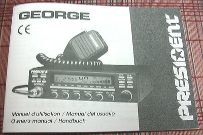 President George AM/FM/SSB CB Radio Owners//Instruction Manual