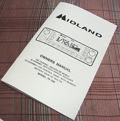 RARE! Midland 79-290 AM/SSB CB Radio Owners//Instruction Manual
