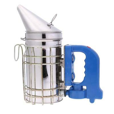 Stainless Steel Bee Hive Smoker with Heat Shield Beekeeping Equipment Tool hv2n