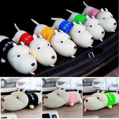 Car Air Fresher Adsorb Odor Bamboo Charcoal Bag Long Mouth Dog Cute Garnish Toy