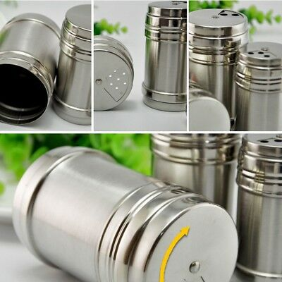 Thickening Stainless Steel Spice Jar Seasoning Shaker Pepper Cans Barbecue Tools