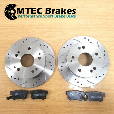 Vauxhall Astra 2.0 Turbo 16v 02-04 Rear Brake Discs & MTEC Premium Brake Pads