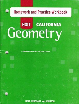 Holt geometry student homework practice workbook w answer key holt geometry california homework and practice wo fandeluxe