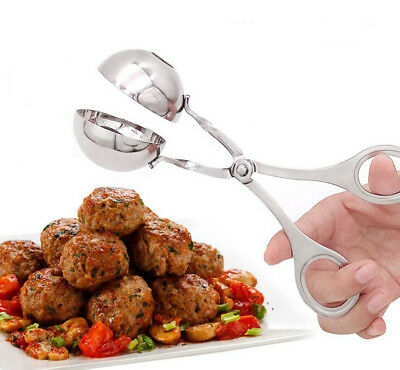 Stainless Steel Non Stick Home Meat Ball Maker Dough Meatball Tongs Scoop Mold H