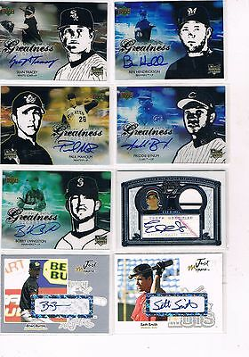 Mixed 8 Card Autographed Lot