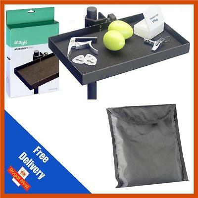 Stagg ACTR-2515 BK Accessory Tray | Percussion Tray | Headphone Tray