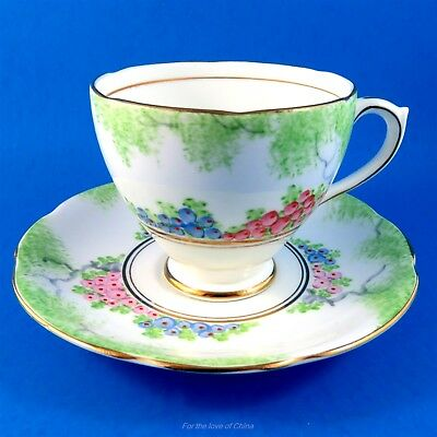 Hand Painted Trees and Berries Royal Standard Tea Cup and Saucer Set