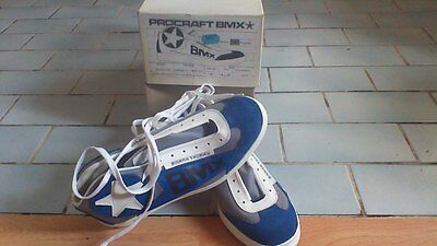 Frank Thomas Procraft Bmx Rarevintage 1980/s  Bmx Shoes Made In England Uk Size