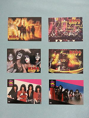 """Kiss  Cards          """"promos  4  Diff. /   Pro  Set  Music  2  Diff."""""""
