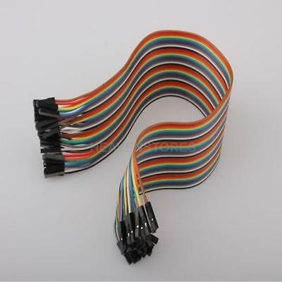 Rainbow Color 40 Way Cable 30cm Flat Arduino Jumper Cable For Home Applianc hv2n