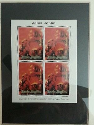 Janis Joplin.   Block Of Stamps.  Le