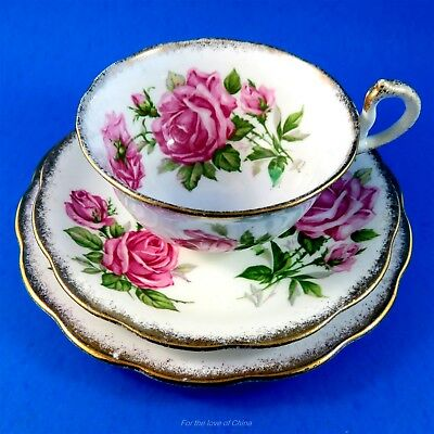 Pretty Pink Royal Standard Orleans Rose Tea Cup, Saucer and Plate Trio Set