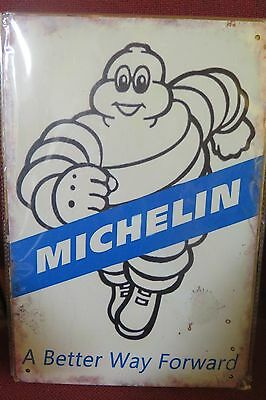 michelin a better way forward   tin metal sign MAN CAVE brand new