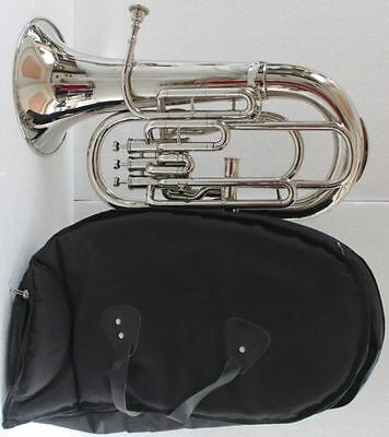 "Euphonium""bb/f-4-Valve_Chrome-Wow-W-Case-Mp-Superb-Sound-Tuba-""trumpet"