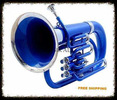 Ultimate New Design Euphonium Blue Colored & Silver Nickel Plated Bb Keys W/bag