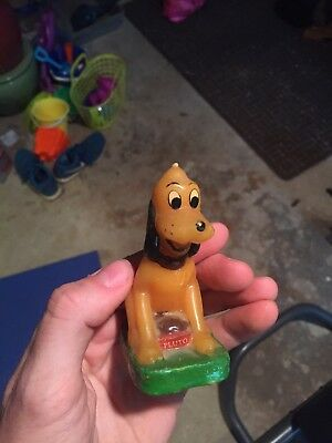 Vintage Pluto Wax Candle Disney Figurine Mickey Mouse Dog