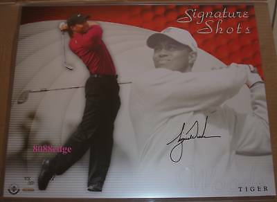 UPPER DECK 16x20 SIGNATURE SHOT AUTO: TIGER WOODS #75/100 AUTOGRAPH UDA PHOTO