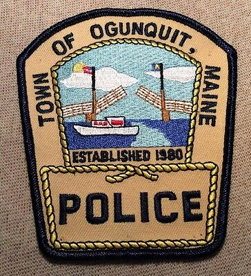 ME Town of Ogunquit Maine Police Patch (GD)