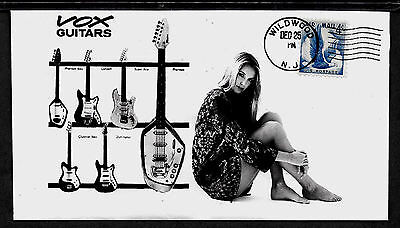 1964 Vox Guitars and Sexy Woman Ad Featured on Collector's Envelope *A583