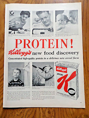1956 Kellogg's Ad Special K  Protein