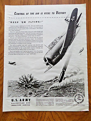 1942 U. S. Army Recruiting Ad  Air Corps