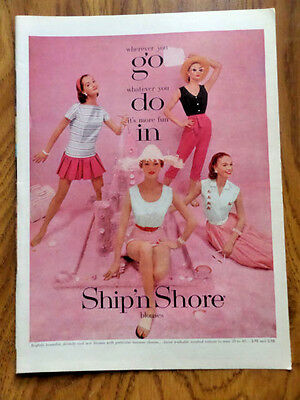1956 Ship'n Shore Blouses Ad  Go Do In