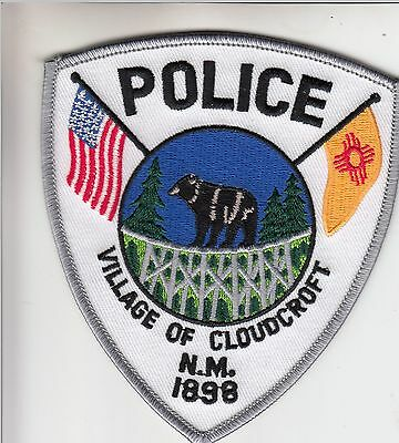 Cloudcroft Police Shoulder Patch New Mexico Nm