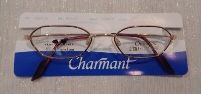 Charmant CH8018 Demi Brown 49/19 All Titanium Ladies Eyeglass Frame New
