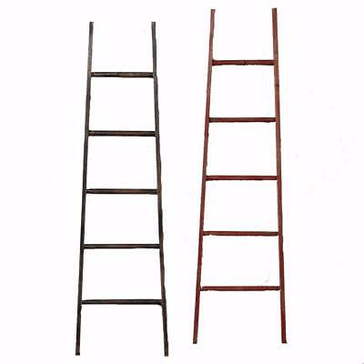 """New 36"""" Wooden Black or Red Ladder Christmas Accessory 2211920"""