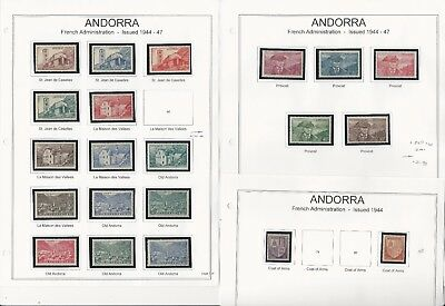 Andorra, French 1931-1970 Collection on 19 Pages, Neatly Mounted