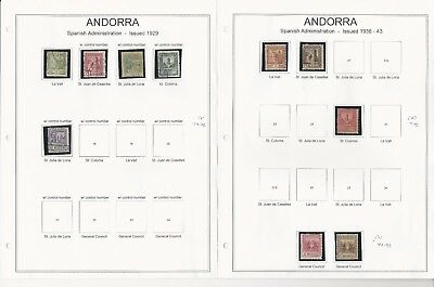 Andorra, French 1929-1953 Collection on 3 Pages, Neatly Mounted