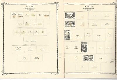 Andorra, French 1931-1976 Scott Specialty Pages, 23 Pages