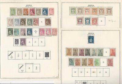Angola, Portugal Colony, 1870-1972 on Minkus Specialty Pages, 35 Pages