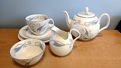"""E. Brain Foley China """"Celeste"""" Tea For One by Donald Brindley. Good Condition."""