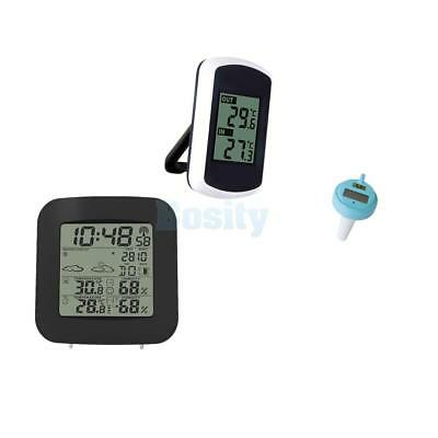 Pool Water Pond Spa Thermometer and LCD In/Outdoor Digital Thermometer