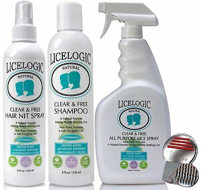 # 1 Lice Shampoo & Lice Treatment Kit - LiceLogic Natural, Safe, Hypoallergenic