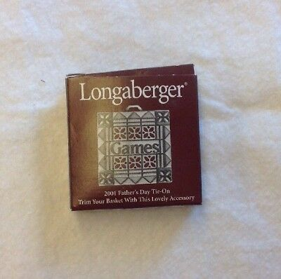 Free Shipping Longaberger Father's Day Games Basket Tie-On