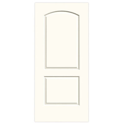 """30""""x80"""" solid wood Jedlwyn interior door white finish with door know"""