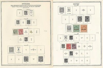 Antigua Collection 1862-1984 on Minkus Specialty, 120 Pages Includes Redonda