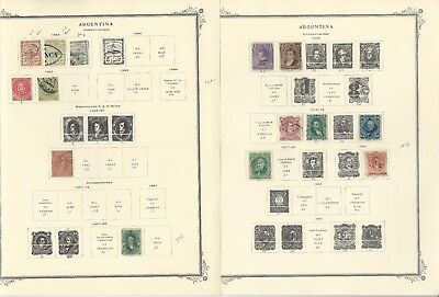Argentina Collection 1858 to 1975 on Scott Specialty Pages, Around 100 Pages