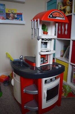 smoby play kitchen red and grey