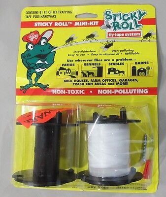 Sticky Roll Fly Trapping Tape System 81' Mini-Kit Hardware Take-Up Reel New