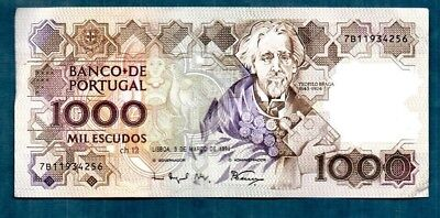 Portugal  -  1994   1000  Escudos  - Nice Clean Type -