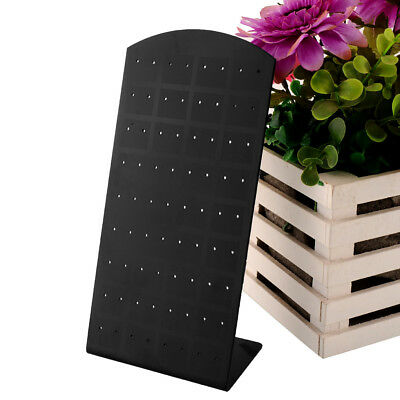 72 Holes Earrings Jewelry Show Black Plastic Display Stand Organizer Holder