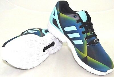 newest collection 64653 25658 Adidas Zx Flux B34516 Black   Blue Prism US Size 9.5 - FREE SHIPPING - BRAND