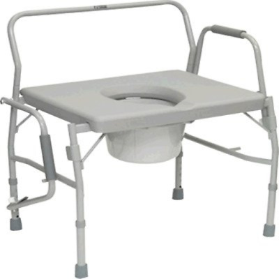 ISG413BAREA - Bariatric Drop Arm Commode for Easy Transfer, 27-1/2 x 18-1/2 Seat