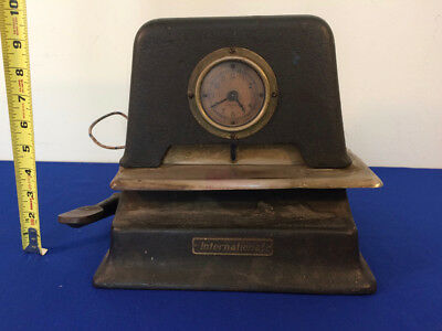 VINTAGE - International Time Recorder Punch Clock w/ Stamp Arm Model 2730 2